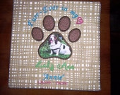 Furr-Ever In My Heart -- PAW PRINT -  PERSONALIZED Pet Canvas Pictures   --   12 x 12