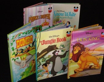 10 Book Lot of Classic Disney - Dumbo- Snow White-The Jungle Book -The Lion King -The Prince and the Pauper-Tarzan-Toy Story-Cinderella more