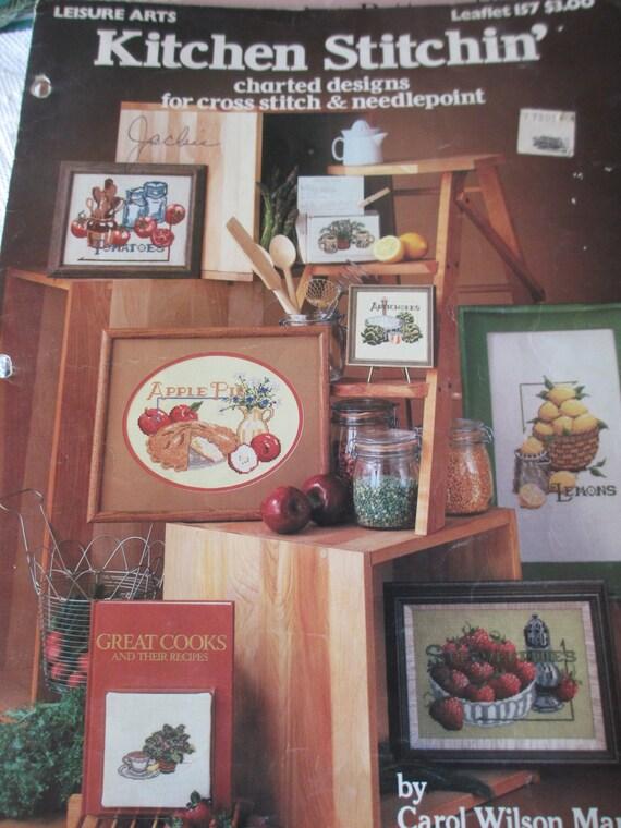Vintage cross stitch 1979 kitchen stitchin 39 for Cross stitch kitchen designs