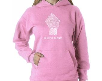 Women's Hooded Sweatshirt - No Justice No Peace