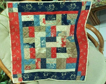 Stars and Stipes QUILTED PATRIOTIC table runner or wall hanging