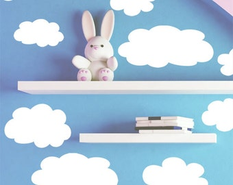Cute & Fluffy Cloud Wall Decals for Nursery Rooms