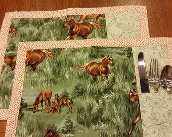 Horse Placemats Handmade