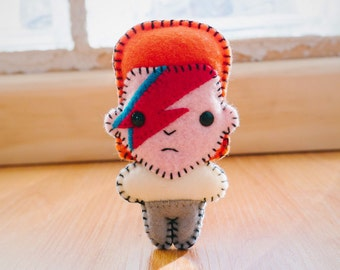 Felt David Bowie - Pocket Plush toy