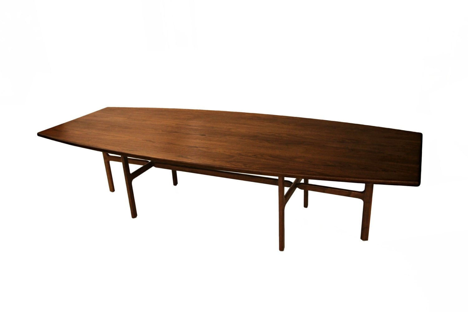 Huge 10ft long solid top walnut dining conference table for 10 foot long table