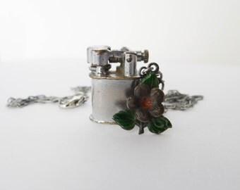 Handmade Vintage Lighter Necklace