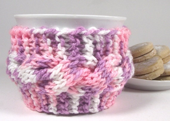 KNITTING PATTERN Cozy Coffee Cup Knit Mug Cozy by LiliaCraftParty