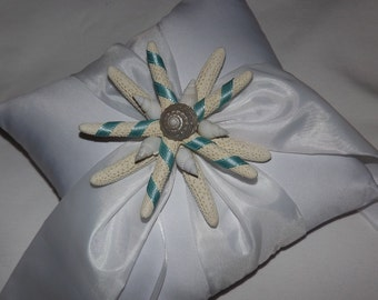 Beach Wedding Ring Bearer Pillow