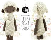 lalylala crochet pattern LUPO the LAMB / sheep - amigurumi