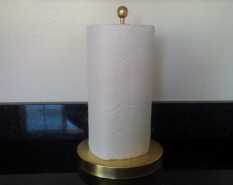 Standing Brass Pipe Paper Towel Holder