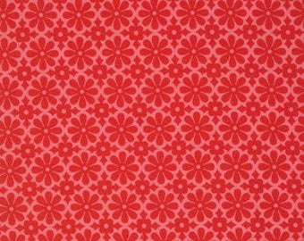 Ginger Snap by Heather Bailey for Free Spirit - Snapdaisy - Red - 1/2 yard cotton quilt fabric 516