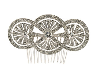 Round Flower Hairpin Comb Europe Imperial Style XBY067 (More Color)