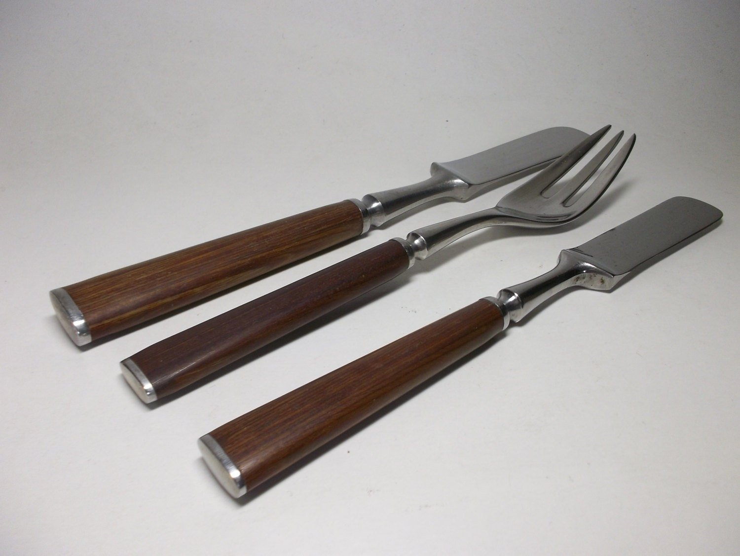 Jhq dansk anvil rare wood handle danish modern by rubbedeffect - Contemporary stainless flatware ...