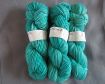 DK Merino hand dyed super wash yarn in  DK weight - colour way : Dark Green - knitting, hand dyed, dk weight, merino