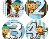 month to month baby stickers - Baby monthly stickers 1 to 12 months - Bodysuit Romper Stickers - Monthly Baby Stickers - PACI BABY MONKEYS