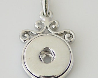 1 Pendant ONLY - FITS 18MM Candy Snap Charm Jewelry Silver Kb0231 CP0011