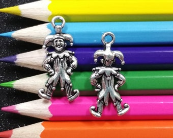 5 PCS - Jester Clown New Orleans Louisiana Silver Charm Pendant C0503