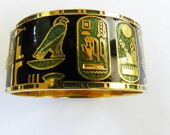 Vintage Egyptian Revival Cuff Bracelet