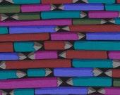 1/2 Yard Kaffe Fassett Fabric - 100% Cotton Quilt Fabric -  Pencils - Dark