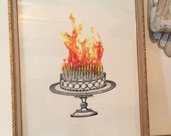 Inferno Cake 8 x 10 print