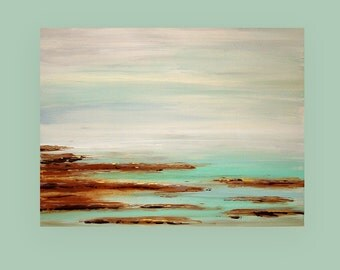 Art,Painting,Abstract,Acrylic,Original Painting,Canvas Art Coastal Shabby Chic by Ora Birenbaum Titled: Sea Air 30x40x1.5""