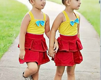 Tweedle Dee and Tweedle Dum Costumes - Twin Outfits - Tweedledee Tweedledum - Twin Birthday Outfits - Bestfriend Outfits - Sister Outfits