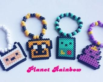Adventure Time Perler Charm Kandi Bracelets - Set of 4