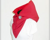 Hooded Scarf - Soft Shell / waterproof / red