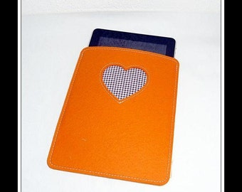 WollfilzHülle e-reader - orange