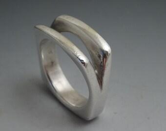 Rare designer ring by Versani sterling silver