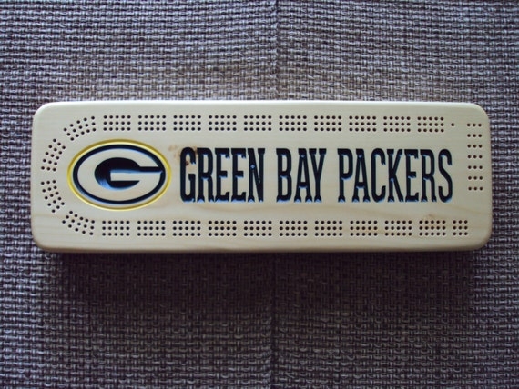 Rustic Cribbage Board Green Bay Packers Football Furniture