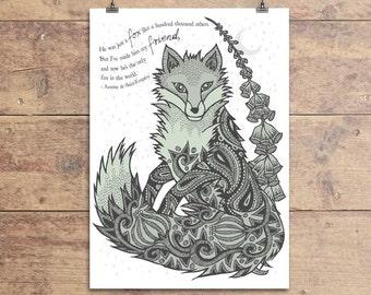 Fox Friend Greeting Card