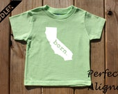 California Home State BORN Unisex Toddler T-shirt - Baby Boys or Girls