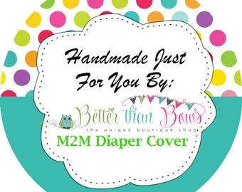M2M Diaper Cover, Cake Smash, Birthday Boy, Photo Props