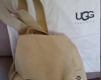UGG Backpack Pale Yellow Suede Leather Handbag