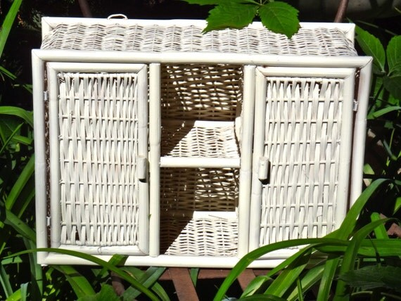 wicker shelf bathroom cabinet wicker storage creamy white shelf