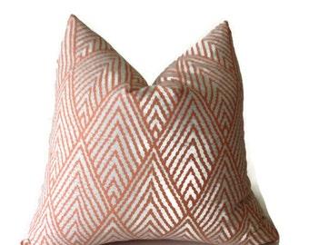 kravet pillows tangerine orange throw pillows tahitian stitch pillow decorative pillow cover