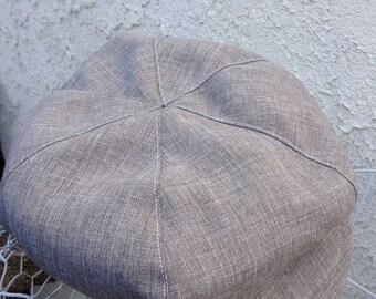 Cafe brown newsboy hat, brown beret  hat for boys