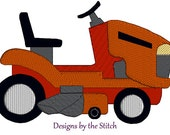 Lawn Mower Tractor INSTANT DOWNLOAD Embroidery Design 3 hoop sizes