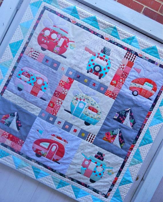 vantastic applique quilt pattern by claireturpindesign on etsy