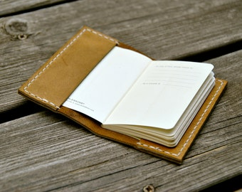 Extra Small Sandstone Leather Moleskine Notebook Cover