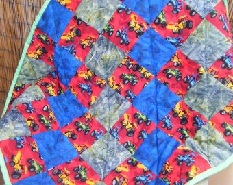 """All Terrain Vehicle Baby Quilt - 35 1/2""""x40 1/2"""" - HANDMADE BY ME"""