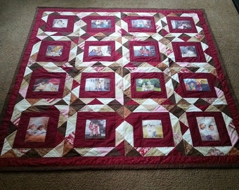 16 photo patchwork quilt