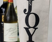 Wine Tote - Recycled Cotton Canvas - EnJoy.