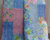 Quilted Stroller Baby Girl Blanket