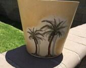 TERRA COTTA Palm POT / Garden Planter Vase / Vintage Home Decor Pot / Garden Clay Vase / Beach Clay Pot, Ecofriendly Handmade Pot