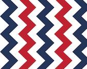 Red, White and Blue Chevron Fabric Riley Blake 1 YARD