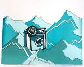 Polaroid in Mountains Screenprint