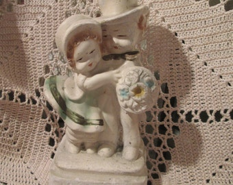 Vintage Early Chalkware Couple