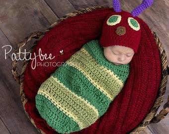 HUNGRY CATERPILLAR COCOON  set - Newborn - 3 months